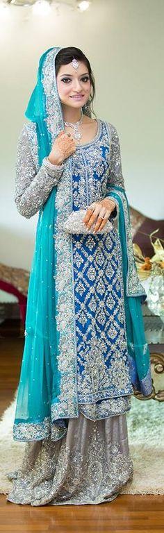 Pakistani wedding dress. Pakistani bride. uploaded by Fatimah Hayat.