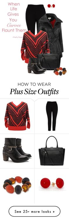 """""""A Plus is a Positive"""" by scandalicious on Polyvore featuring Melissa McCarthy Seven7, Witchery, Erica Lyons, JJ Footwear, plussize and coatcheck"""
