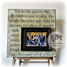 """Thank you so much for visiting The Sugared Plums Frames! Our frames make great and unique gifts for a special wedding, anniversary, parent thank you, grandparents, birthday, godparents, baptisms, christenings, bridesmaids, maid of honor, sisters, adoptions, graduation and more!  This listing is for a 16""""x16""""overall plaque with a 5""""x7"""" mounted frame  Want to see more great examples? Visit The Sugared Plums shop at www.thesugaredplu...  Everything- from the quote, saying, song, l..."""