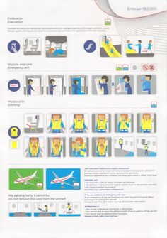 Safety Card  LOT Polish Airlines E200 (1)