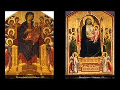 Cimabue's Santa Trinita Madonna & Giotto's Ognissanti Madonna - YouTube