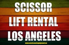Scissor lift rental Los Angeles is a kind of platform that's useful for lifting loads or people to a certain height. Browse this site http://westcoastequipment.us/scissor-lift-rentals/ for more information on the scissor lift rental Los Angeles. It is a useful vehicle for many different tasks since they come in many different sizes. These kind of rentals are especially useful for lifting workers or materials to a certain height (for painting the outside of a tall building for example).