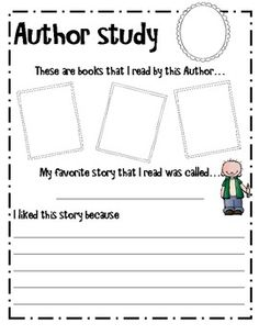 Author Study (writing a book report) Readers Workshop, Writer Workshop, Book Study, Writing A Book, Reading Books, Writing Activities, Sequencing Activities, Library Lessons, Art Lessons