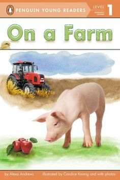 Pigs live on a farm. Apples grow on a farm. Tractors dive on a farm. What else might you find on a farm?