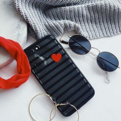 red and black phone case with pop of red kroma phone case iPhone case accessories iPhone 8 + cases striped iPhone case ✨ Free Iphone Cases, Iphone Phone Cases, Cute Pins, Flat Lay, Apple Iphone, Pop, Accessories, Black, Ideas