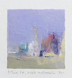 Il s'agit d'une peinture à l'huile abstraite par Hiroshi Matsumoto Titre : 14 mars 2018 Taille : 9,0 cm x 9,0 cm (environ 4 x 4) Toile taille : 14,0 cm x 14,0 cm (env. 5,5 x 5,5) Technique : Huile sur toile Année : 2018 Peinture est feutré en écru pour s'adapter à cadre standard 8
