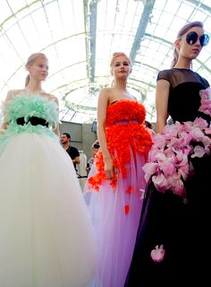 Backstage at Giambattista Valli Couture AW15 x