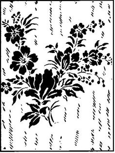 Decorative paint roller. A great pattern for a dining room.