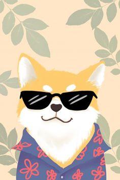 Cute Baby Animals Art poster prints by Smith John Shiba Inu, Animal Drawings, Cute Drawings, Chibi Dog, Animal Graphic, Dog Illustration, Cute Cartoon Wallpapers, Cute Baby Animals, Cute Art