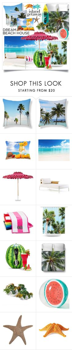 """Beach bum"" by santospretty ❤ liked on Polyvore featuring interior, interiors, interior design, home, home decor, interior decorating, Santa Barbara Designs, Ethimo, Frontgate and Marc Jacobs"
