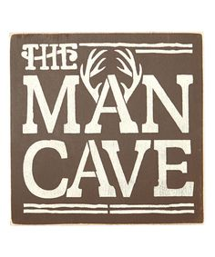 Another great find on #zulily! 'The Man Cave' Antler Wall Sign #zulilyfinds
