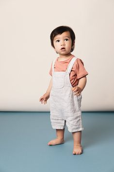 The Linen Short Overalls Toddler Boy Fashion, Little Boy Fashion, Toddler Boy Outfits, Toddler Boys, Kids Boys, Kids Outfits, Kids Fashion, Toddler Boy Clothing, Toddler Boy Style