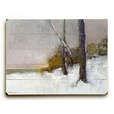 The Loneliness of Winter by Artist John W. Shanabrook Wood Sign