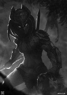 Female Predator - fan art by mist XG Alien Vs Predator, Predator Cosplay, Predator Alien, Dark Fantasy Art, Sci Fi Fantasy, Female Yautja, Female Characters, Fantasy Characters, Arte Ninja