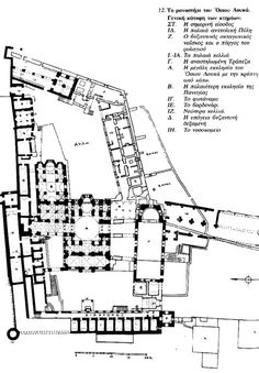 This is the floor plan of the Church of the Holy Sepulchre