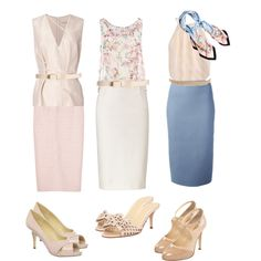 Powder Blue and Blush by create1 on Polyvore featuring мода, Christopher…