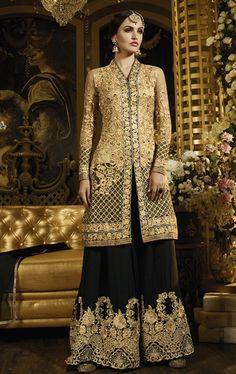 Charismatic Black Designer Palazo Salwar Suit