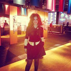 Rossana Diana, the RedHead at Milano Unica.
