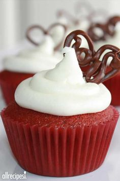 "Red Velvet Cupcakes | ""These were fantastic! I brought them to work and my co-workers couldn't get enough. I'll definitely make them again."""