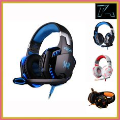 G2000 Gaming Headband Headphone with Mic Stereo Bass LED Light for PC Game