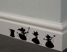 Cinderella 3 mice Decal,Disney Home Decor,Disney Wall Decal,Disney Wall Sticker,Kids Wall Decal,Kitc