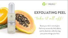 Nuevo peeling exfoliante de #Itworks producto disponible a partir del 1 de noviembre de 2014