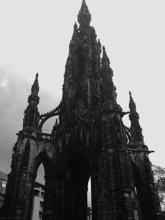 the Sir Walter Scott Monument in Edinburgh, Scotland