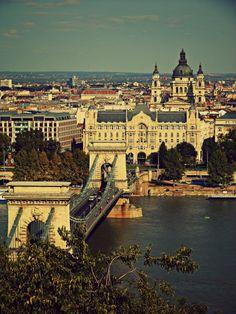 Ponte delle Catene e città bassa, Budapest