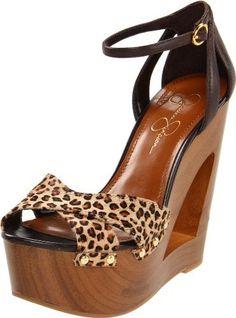Jessica Simpson Women's JS-Niki Slingback Sandal, Leopard Print.