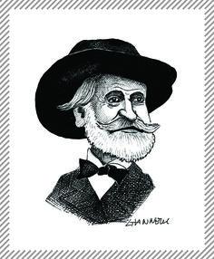Giuseppe Verdi, compositore. Rappresenta la sua prima opera al Teatro alla Scala nel 1839, compose 28 opere tra cui le celeberrime La traviata, il Rigoletto e Il trovatore. #albumMilano #GiuseppeVerdi