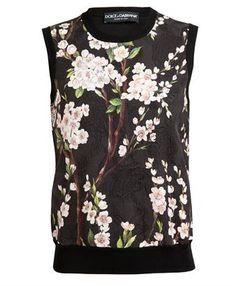 DOLCE & GABBANA - Floral Jacquard Silk-blend Tank