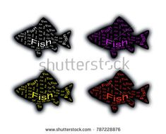 A fish silhouette in black with inscriptions inside