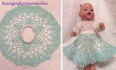 hame nukelle pitsiliinasta Crochet Hats, Dolls, Crocheted Hats, Baby Dolls, Doll, Girl Dolls
