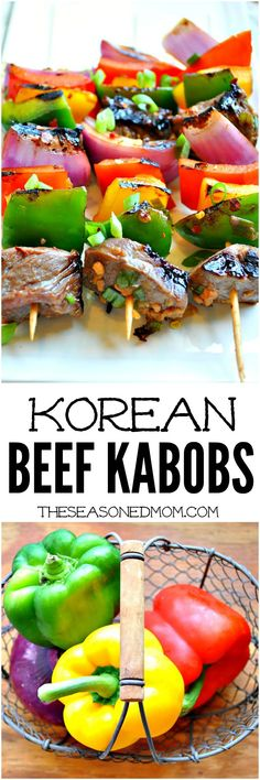 Kids LOVE these Korean Beef Kabobs! Fire up the grill for this fresh and easy summer dinner idea!