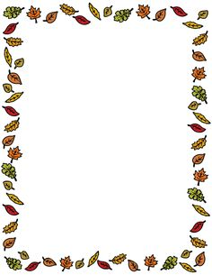 A border featuring colorful autumn leaves around the page. Free downloads at http://pageborders.org/download/fall-leaves-border/