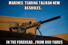 USMC snipers, God bless 'em all! Marine Quotes, Military Quotes, Military Humor, Military Police, Usmc, Army Veteran, Military Style, Once A Marine, Us Marine Corps