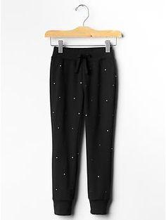 Festive studded jogger pants