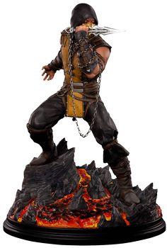 Mortal Kombat Scorpion Statue by Pop Culture Shock Mortal Kombat Figures, Escorpion Mortal Kombat, Mortal Kombat X Scorpion, Anime Figures, Action Figures, Vinyl Figures, Claude Van Damme, Pop Culture Shock, Mortal Combat