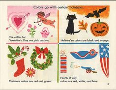 First Adventures in Learning Series - Adventures with Color. Illustrated by JP Miller (1963)