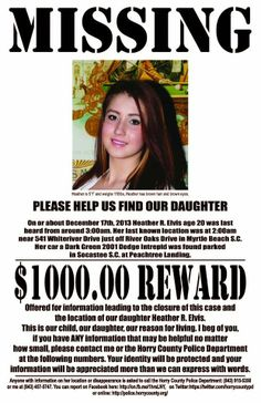 Missing Persons of America: Heather Elvis: Young woman missing from Myrtle Beach