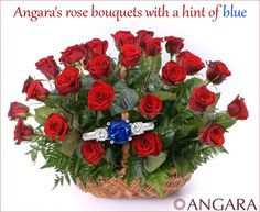 #Angara rose bouquet with a hint of blue.