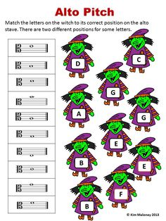 24 HALLOWEEN Themed Music Worksheets! 1. Names of Notes and Rests (4 worksheets but TWO versions. One set using North American terminology and the other using British Terminology) 2. Treble Pitch 3. Bass Pitch 4. Alto Pitch 5. Music Signs and Symbol $ Child Teaching, Teaching Music, Piano Lessons, Music Lessons, General Music Classroom, Easy Sheet Music, Halloween Worksheets, Music Signs, Future Music