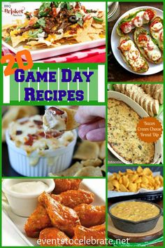 20 Game Day Recipes - events to CELEBRATE!