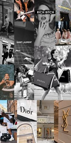 Luxury Brands Girl Aesthetic Wallpaper