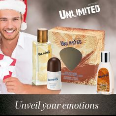 Unlimited Gift Collection. Incluye After #shave lotion y Desodorante. Includes After Shave lotion and deodorant!