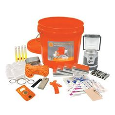 The UST Shelter-in-Place Kit contains an assortment of essential supplies you may need in an emergency. This kit has everything you need for your family to safely have a Shelter In Place during a seve Survival Supplies, Survival Food, Camping Survival, Outdoor Survival, Survival Knife, Survival Prepping, Survival Skills, Survival Hacks, Survival Weapons