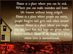 Daveswordsofwisdom.com: There's no place like home.