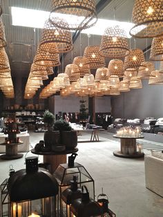 showroom Tine K Odense Denmark Cafe Restaurant, Restaurant Lighting, Restaurant Design, Luxury Lighting, Interior Lighting, Lighting Design, Retail Interior, Interior And Exterior, Interior Design