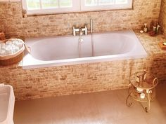 Verde 1800 x 800mm Double ended bath with taps in the middle for main bathroom