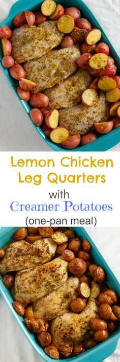 One-Pan Lemon Chicken Leg Quarters with Creamer Potatoes 2